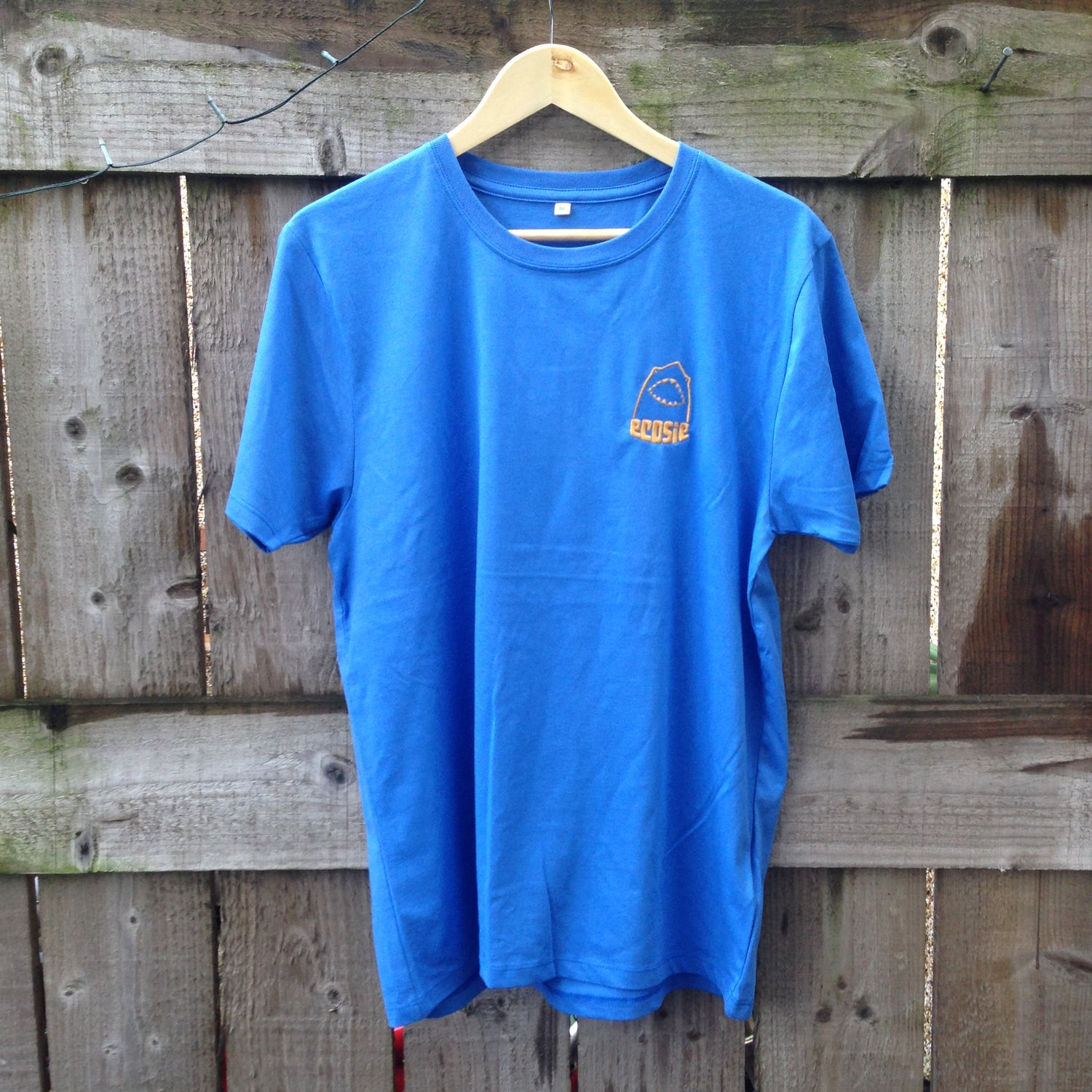 Image of Beachy Blue Ecosie McSharky Embroidered Organic Cotton T-Shirt