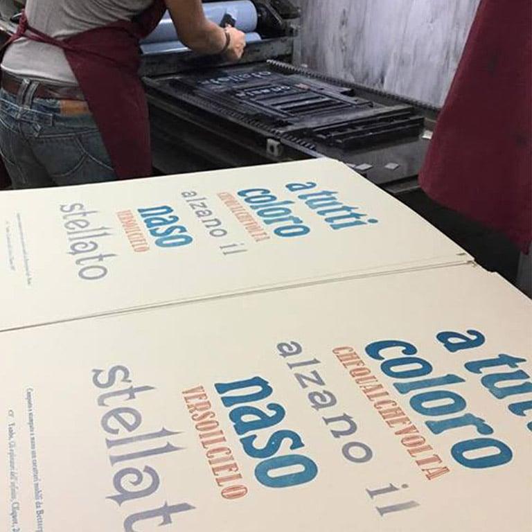 """Image of Poster """"Cielo stellato"""" Betterpress Lab - Composto a mano"""