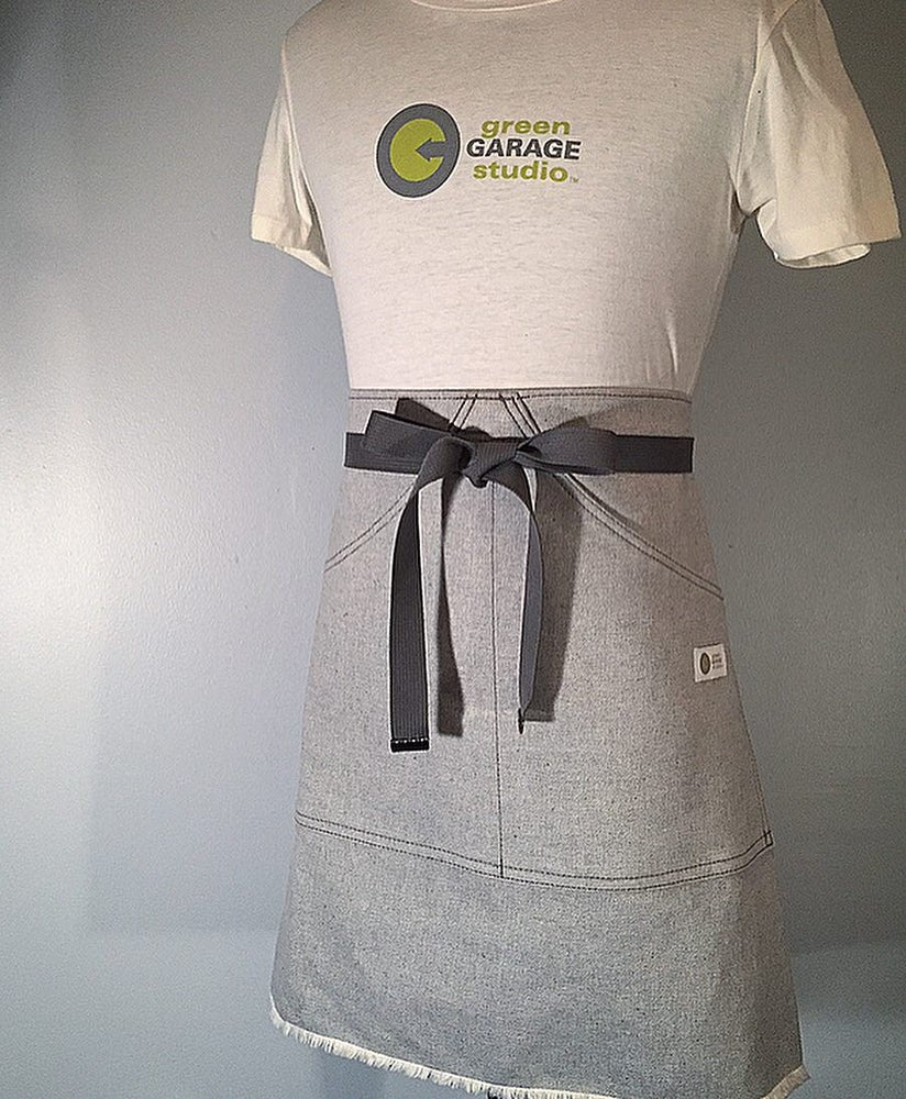 Image of Women's Waist Apron | ELAN | USA Cone Mills Reverse Grey Raw Denim Handmade Apron