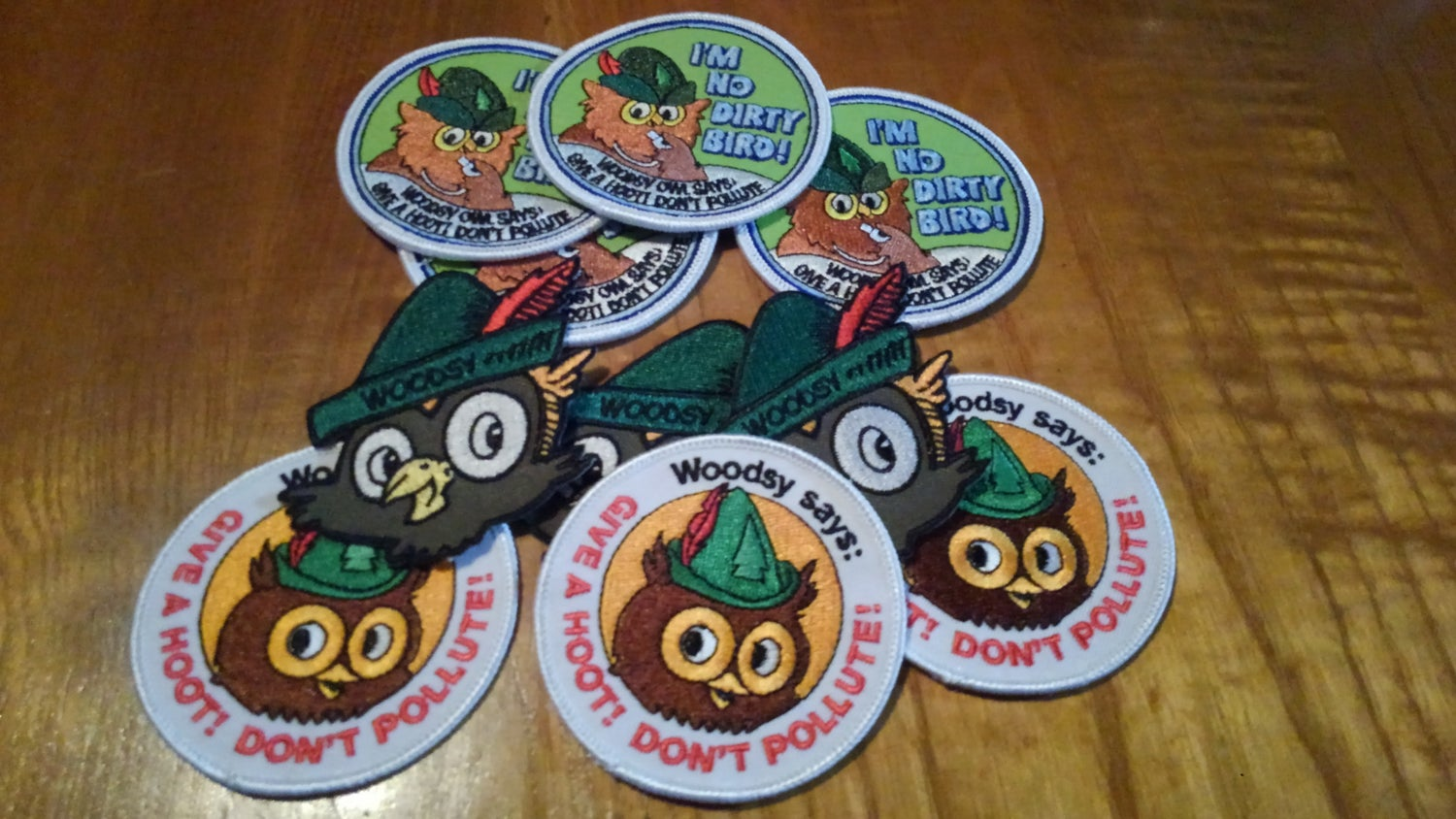 Image of Woodsy Owl embroidered patches