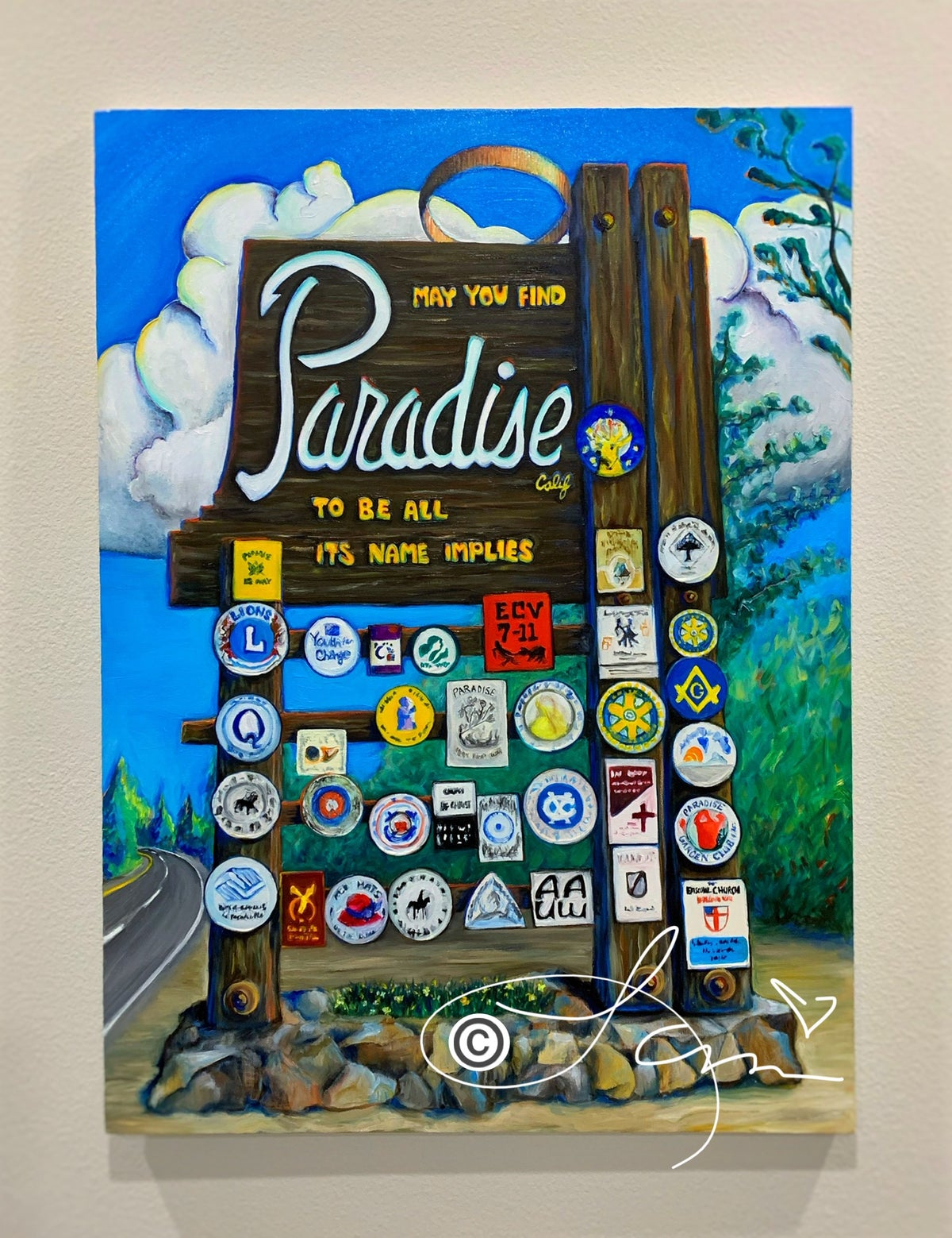 Image of FULL COLOR 8x10 Paradise Sign Archival Print