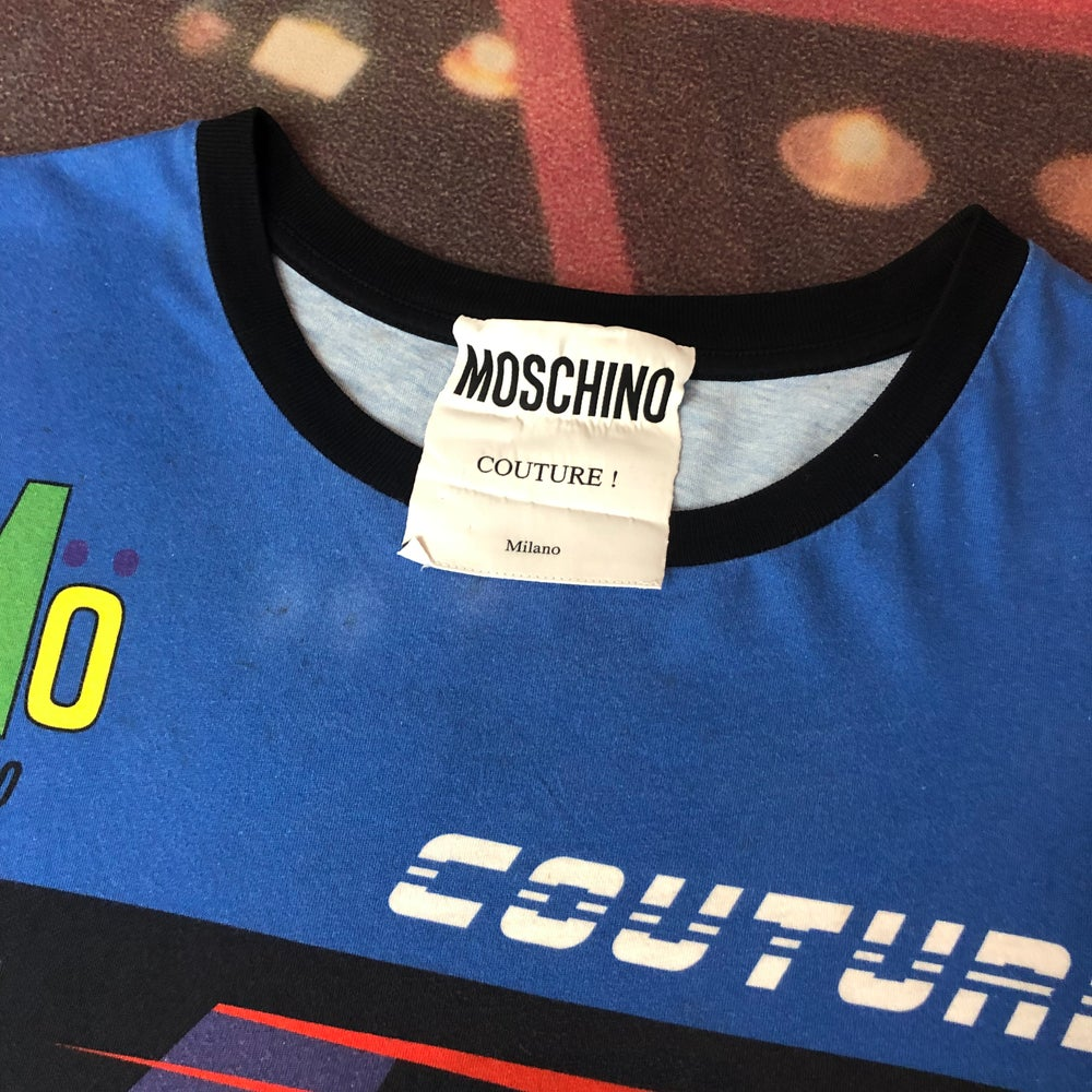 Image of Moschino Milano Couture Tee - Size Small