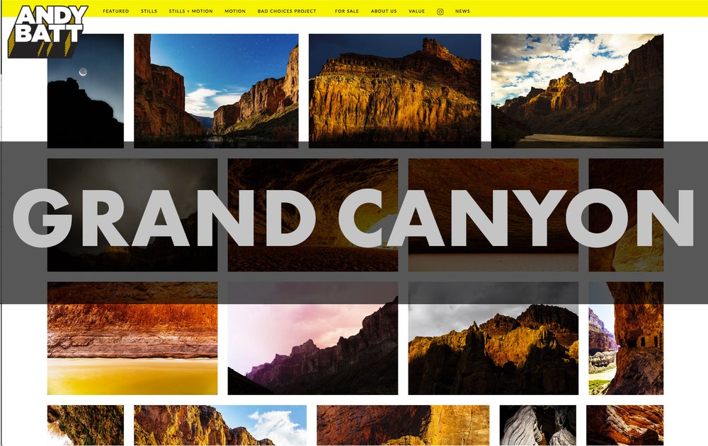 "Image of 16"" x 20"" Grand Canyon, Antelope Canyon & Waterhole Canyon—Archival Inkjet Print"