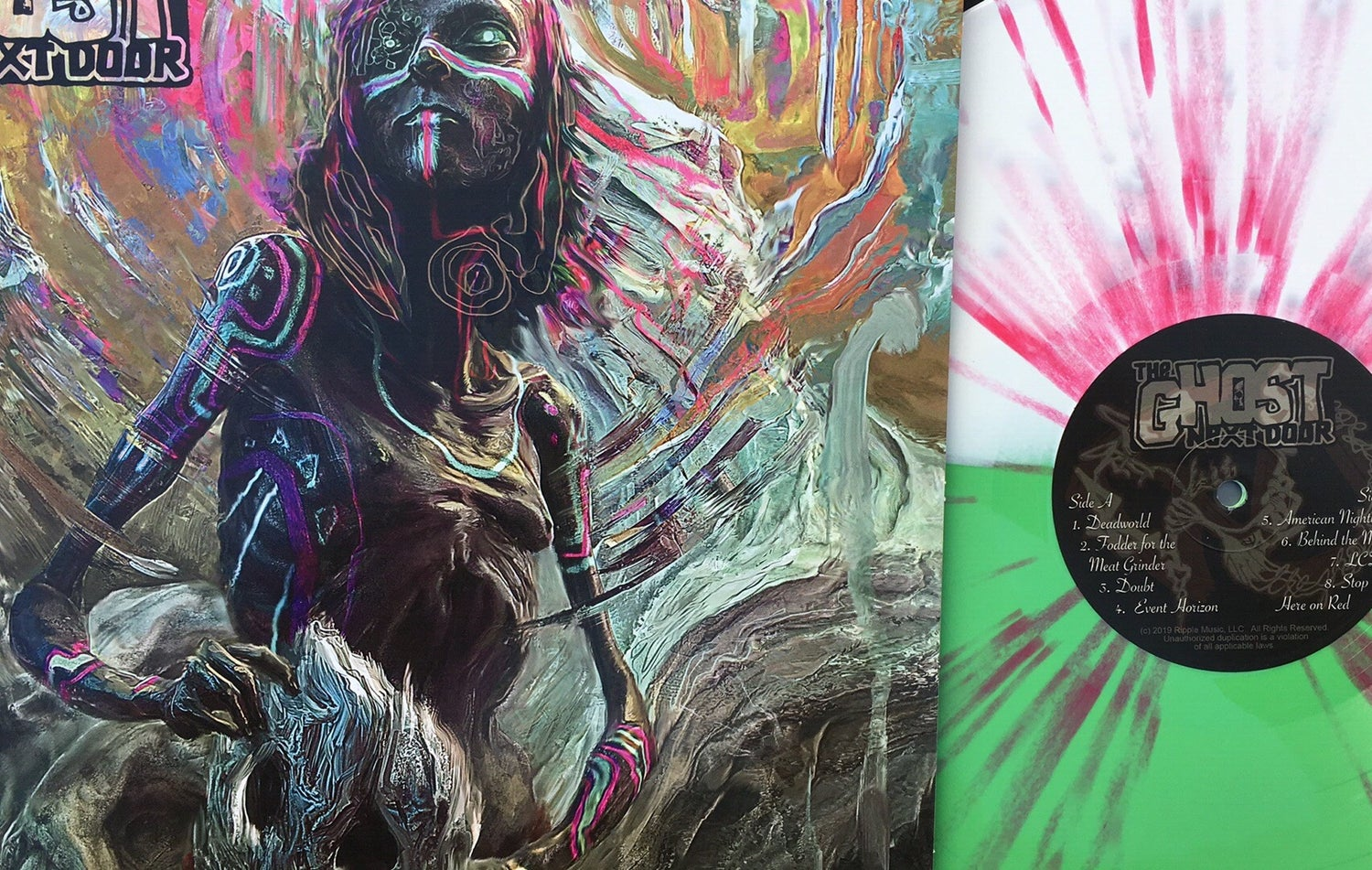 """Image of The Ghost Next Door - A Feast For The Sixth Sense: Limited """"Sensual Feast"""" Multi-colored Vinyl LP"""