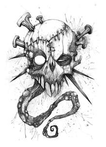 "Image of 'One Mean Monster Zine' - ORIGINAL Cover artwork. 12"" x 18"""