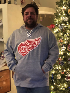 Image of Dead Wings Grey Hockey Hoodie
