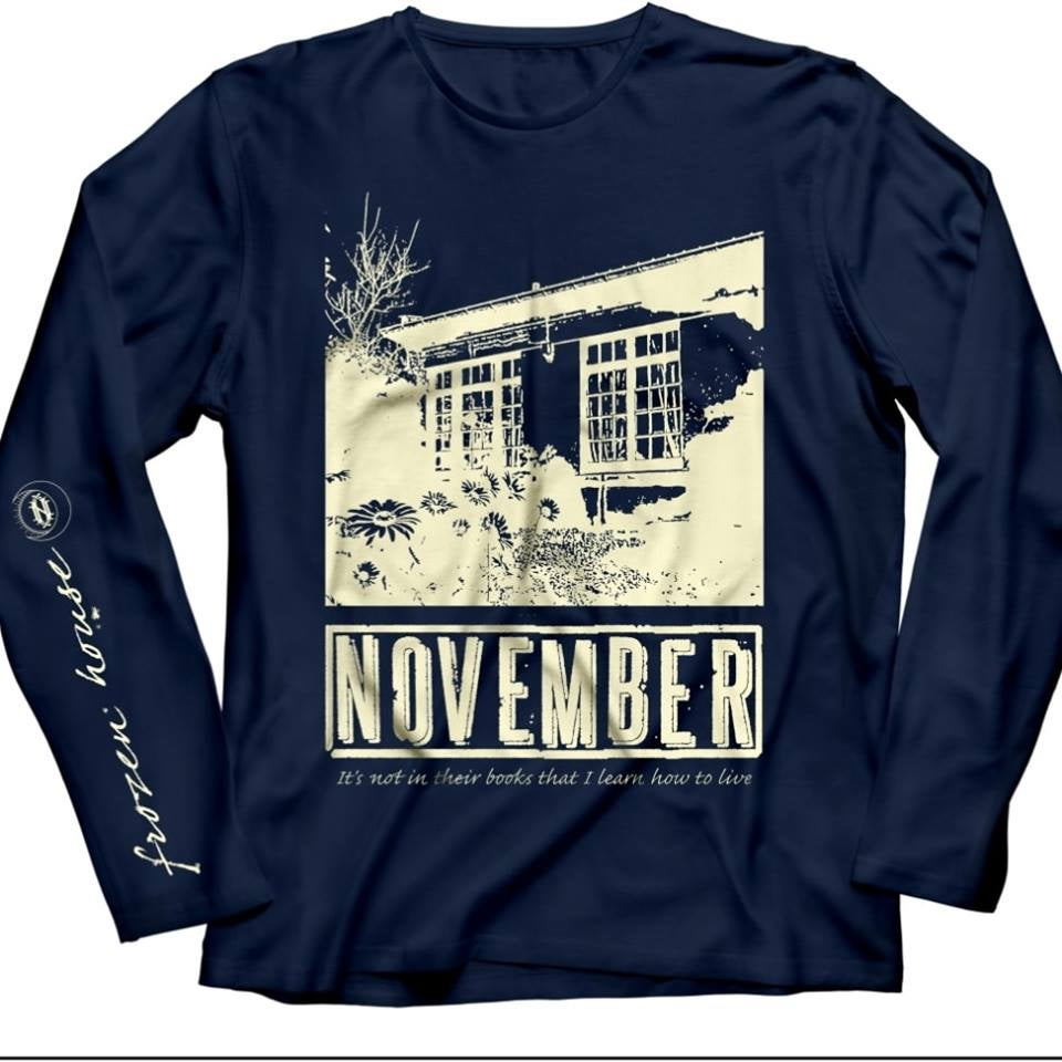 "Image of LONG SLEEVE ""Frozen House"" Navy (pre order)"