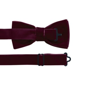 Image of MILLEDEUX VELVET BOYS BOW TIE – WINE