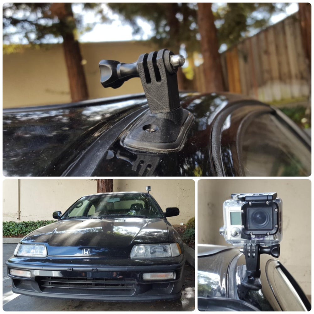 Honda CRX Antenna GoPro Mounting Plate (+ Civic hatch)