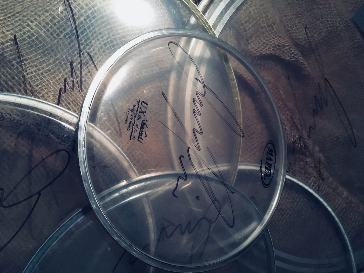 Image of Signed Drum Head