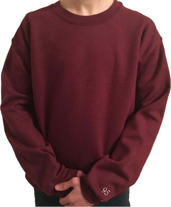 Image of Maroon Oversized Sweatshirt