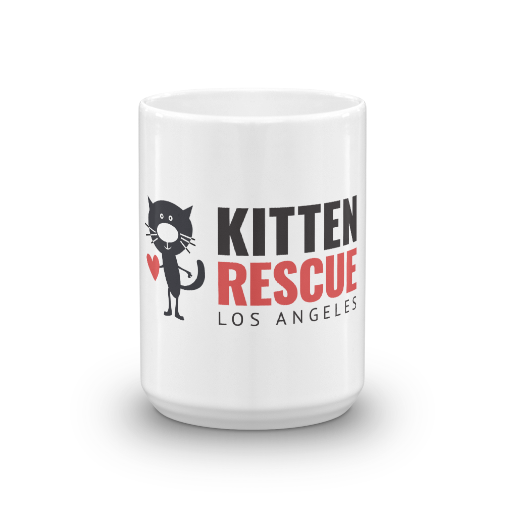 Image of Coffee?! Kitten Rescue White Glossy Mug