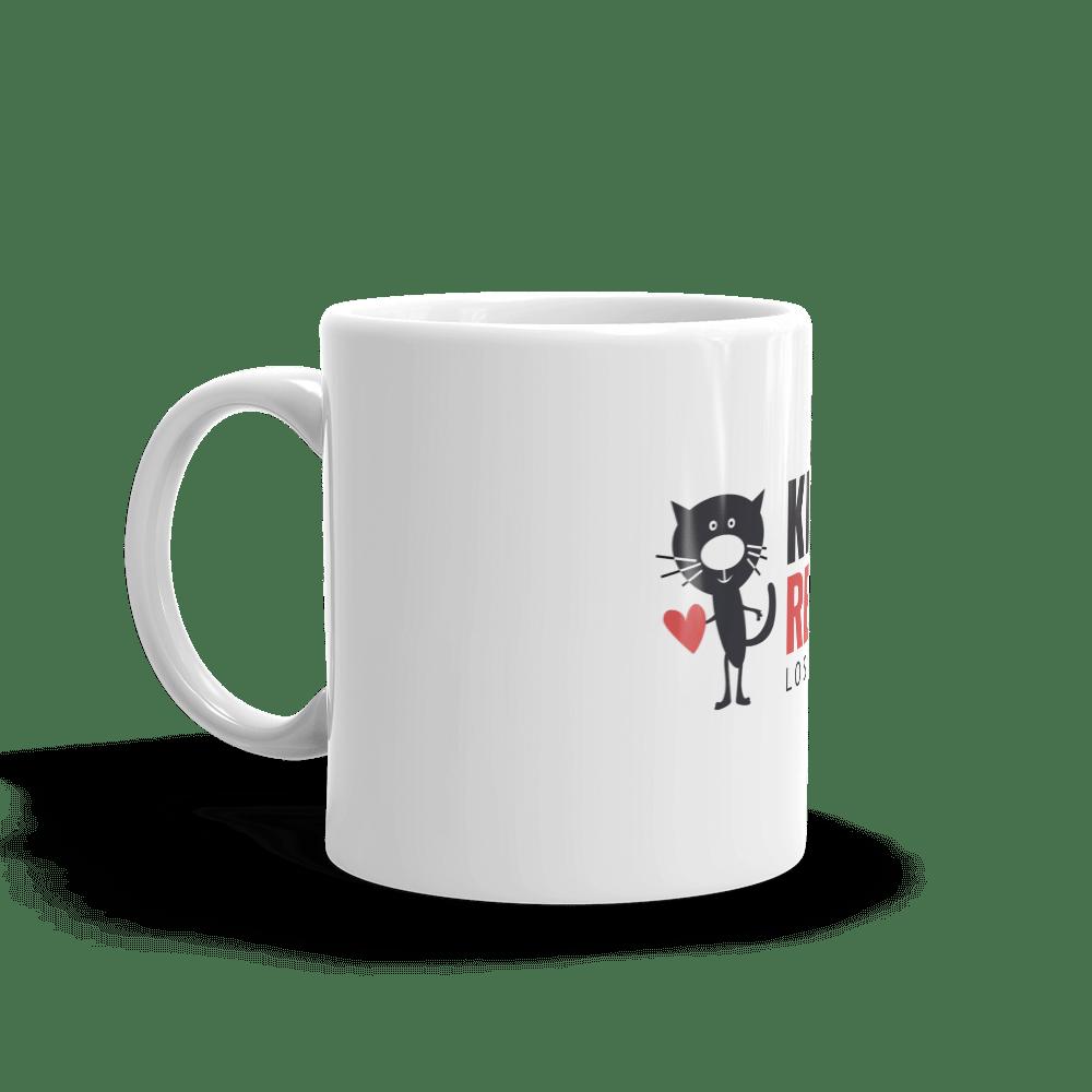 Image of Coffee?! Kitten Rescue White Glossy Mug