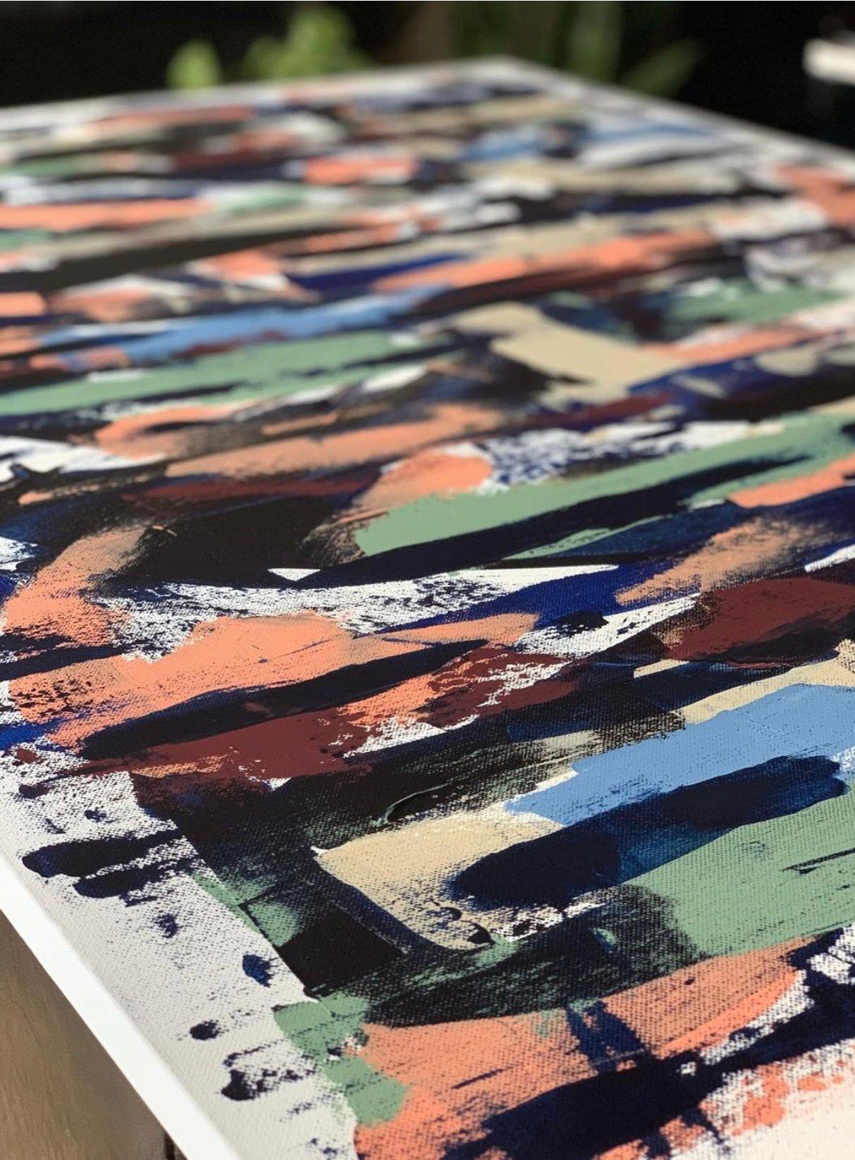 "Image of ""Uproar"" 36 x 48 Canvas"