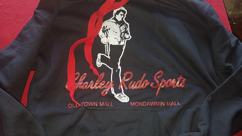 Image of OOPS! Charley Rudo Sports hoodie classic black