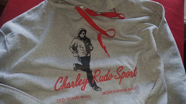 Image of OOPS! Charley Rudo Sports hoodie classic grey