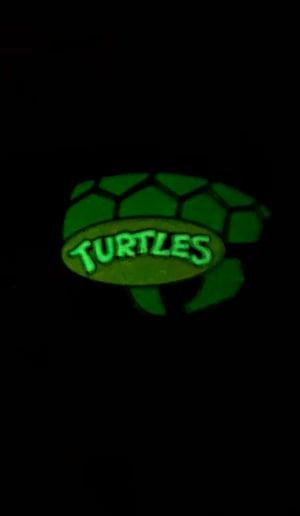 """Image of **B PIN** 2"""" Turtle Blimp Soft Enamel Pin (GID)"""