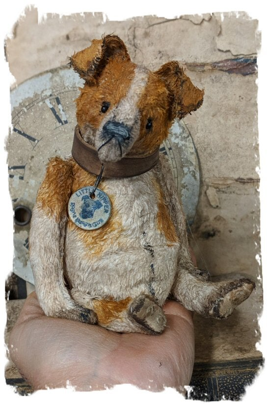 "Image of 6.5"" Vintage Style Jack Russell Terrier Dog by Whendi's Bears"