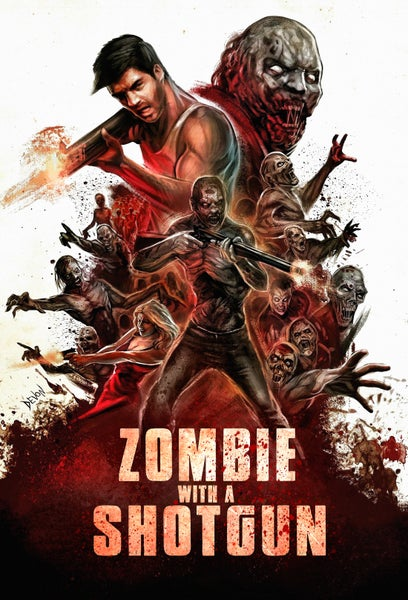 Image of Zombie with a Shotgun Original Movie Poster ~ Signed and Printed on 17x22 Photo Paper
