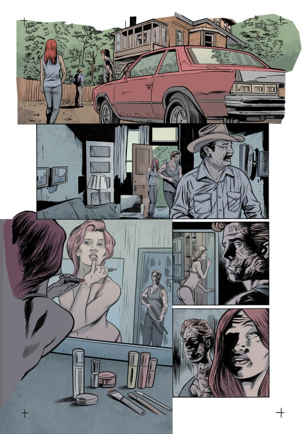Image of Zombie with a Shotgun Comic Image Signed and printed on 17x22 Photo paper (Issue #1 Page 12)