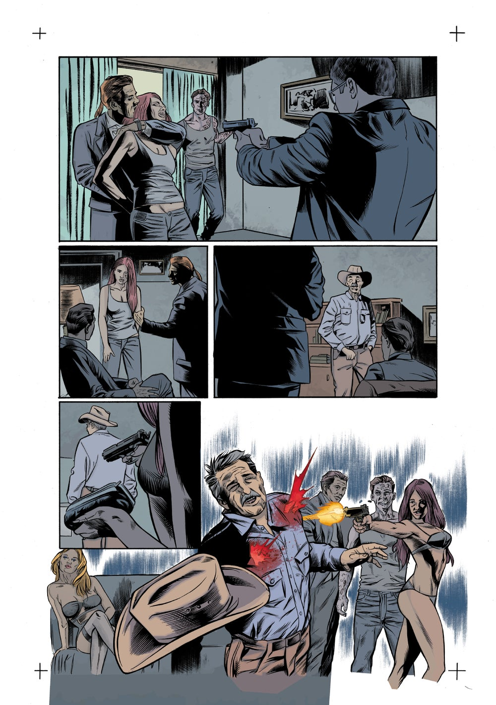 Image of Zombie with a Shotgun Comic Image Signed and printed on 17x22 Photo paper (Issue #1 Page 17)