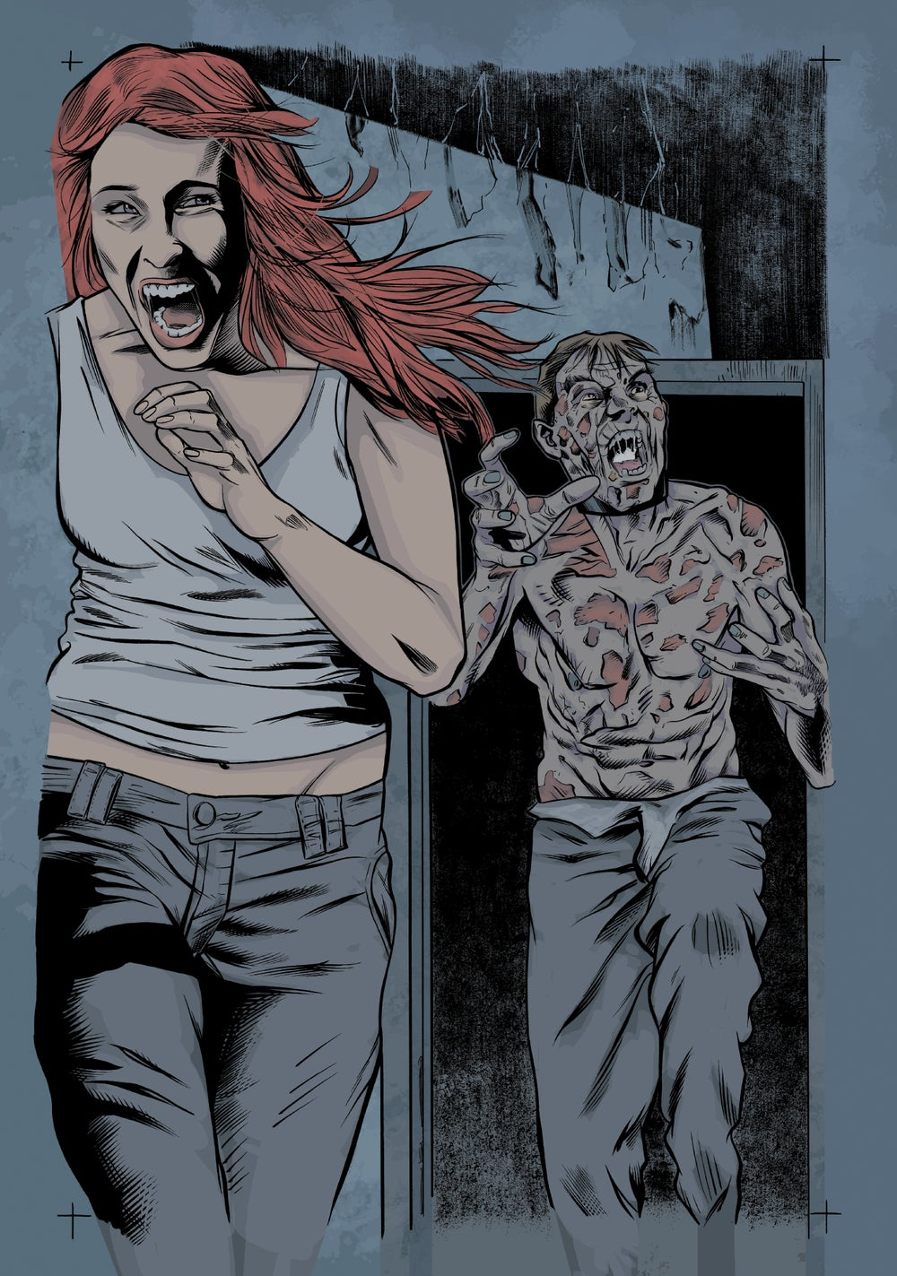 Image of Zombie with a Shotgun Comic Image Signed and printed on 17x22 Photo (Issue #1 Page 20) (The Chase)