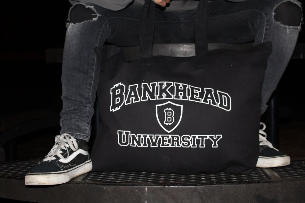 Image of Bankhead University large full zip tote bag
