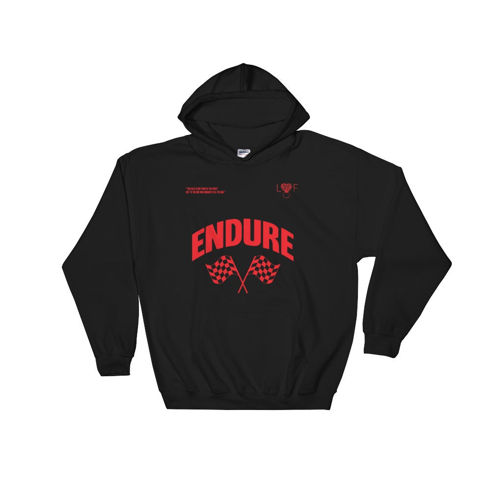 Image of Black Endure Hoodie (Endure Collection)