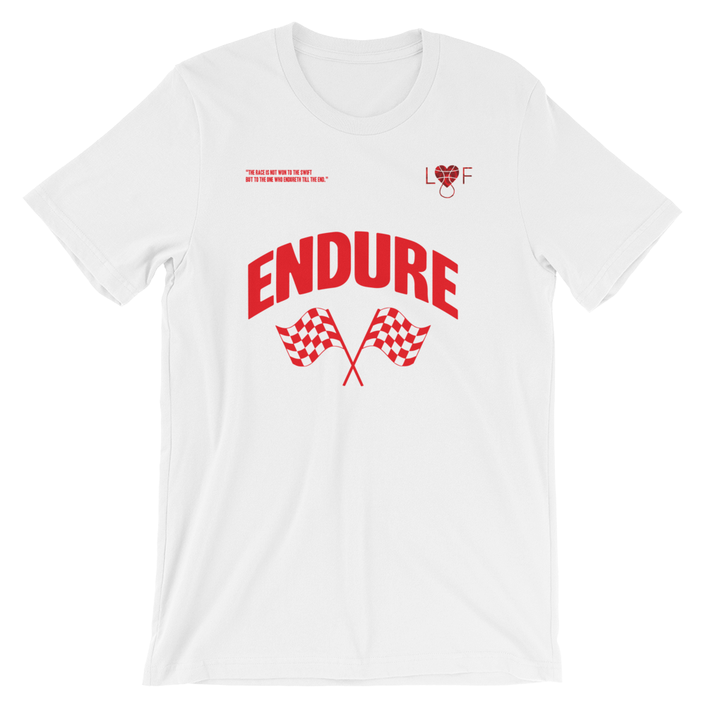 Image of White and Red T shirt (Endure Collection)