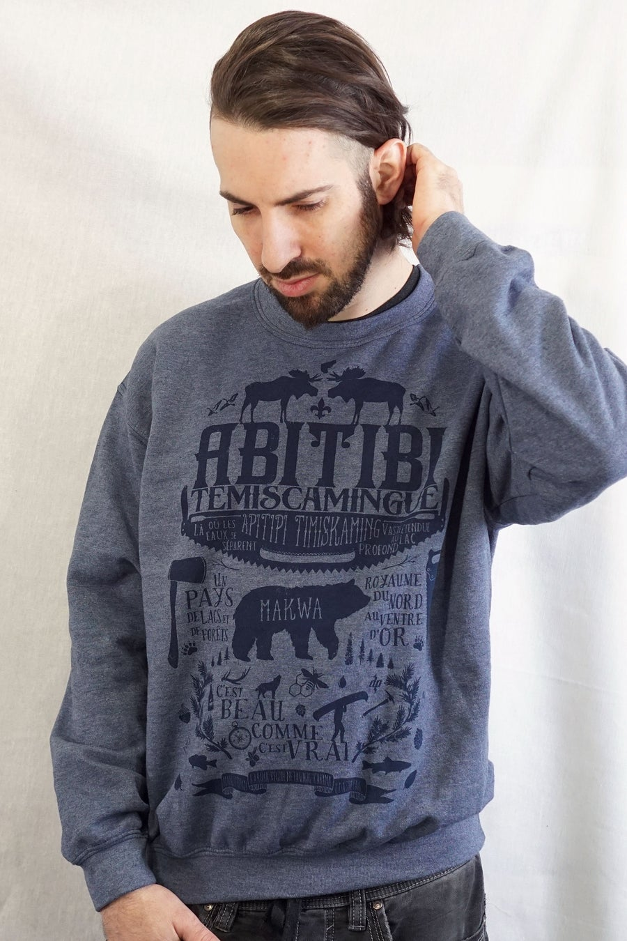 Image of AT  / Crewneck Unisexe Bleu Cendré