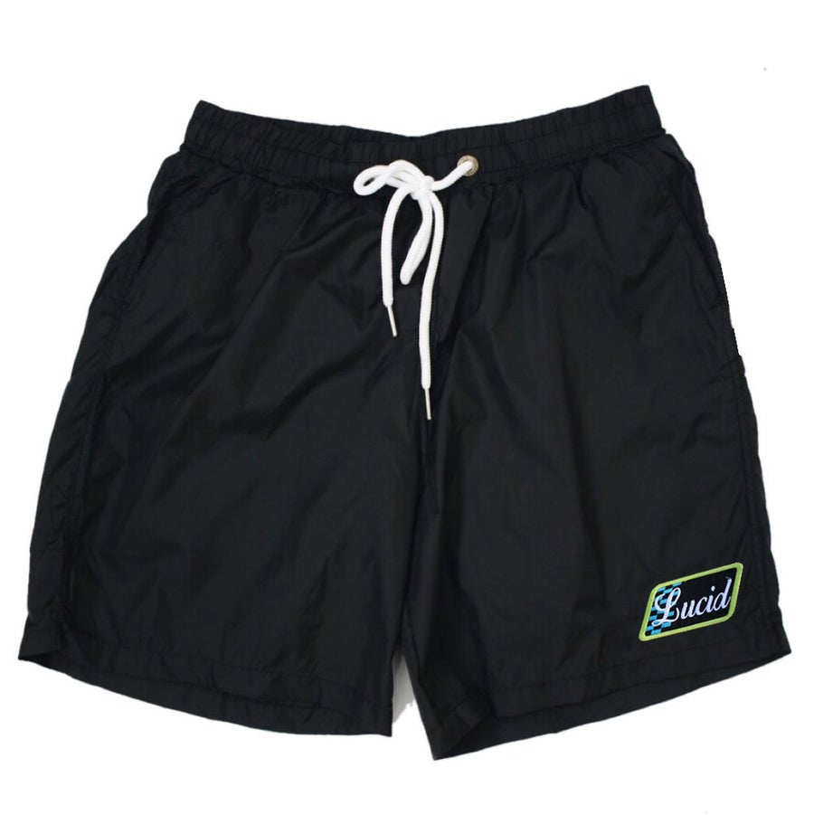 Image of NYLON VINTAGE SHORTS - BLACK