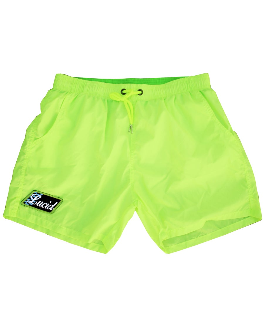 Image of VINTAGE SHORTS - TENNIS-BALL YELLOW
