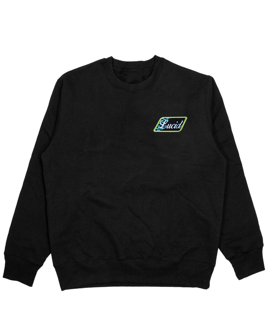 Image of VINTAGE PATCH SWEATER - BLACK