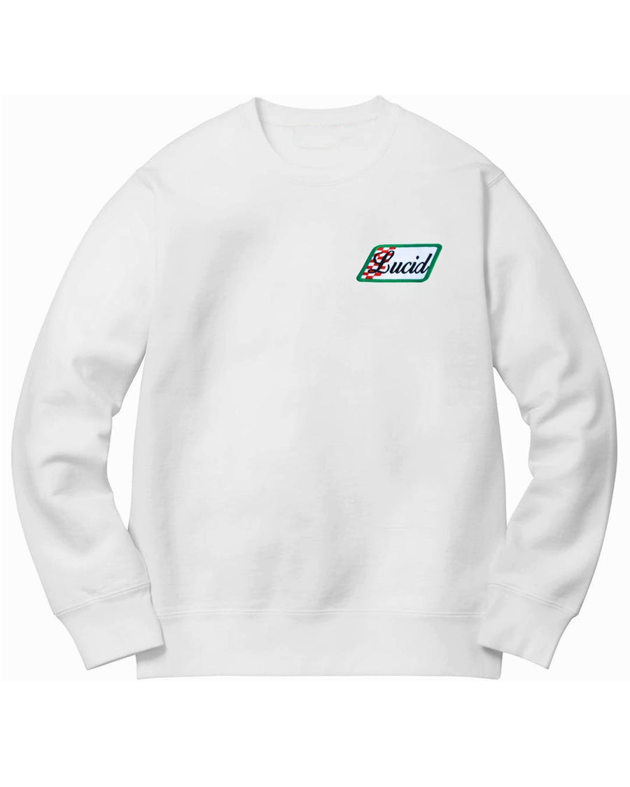 Image of VINTAGE PATCH SWEATER - WHITE