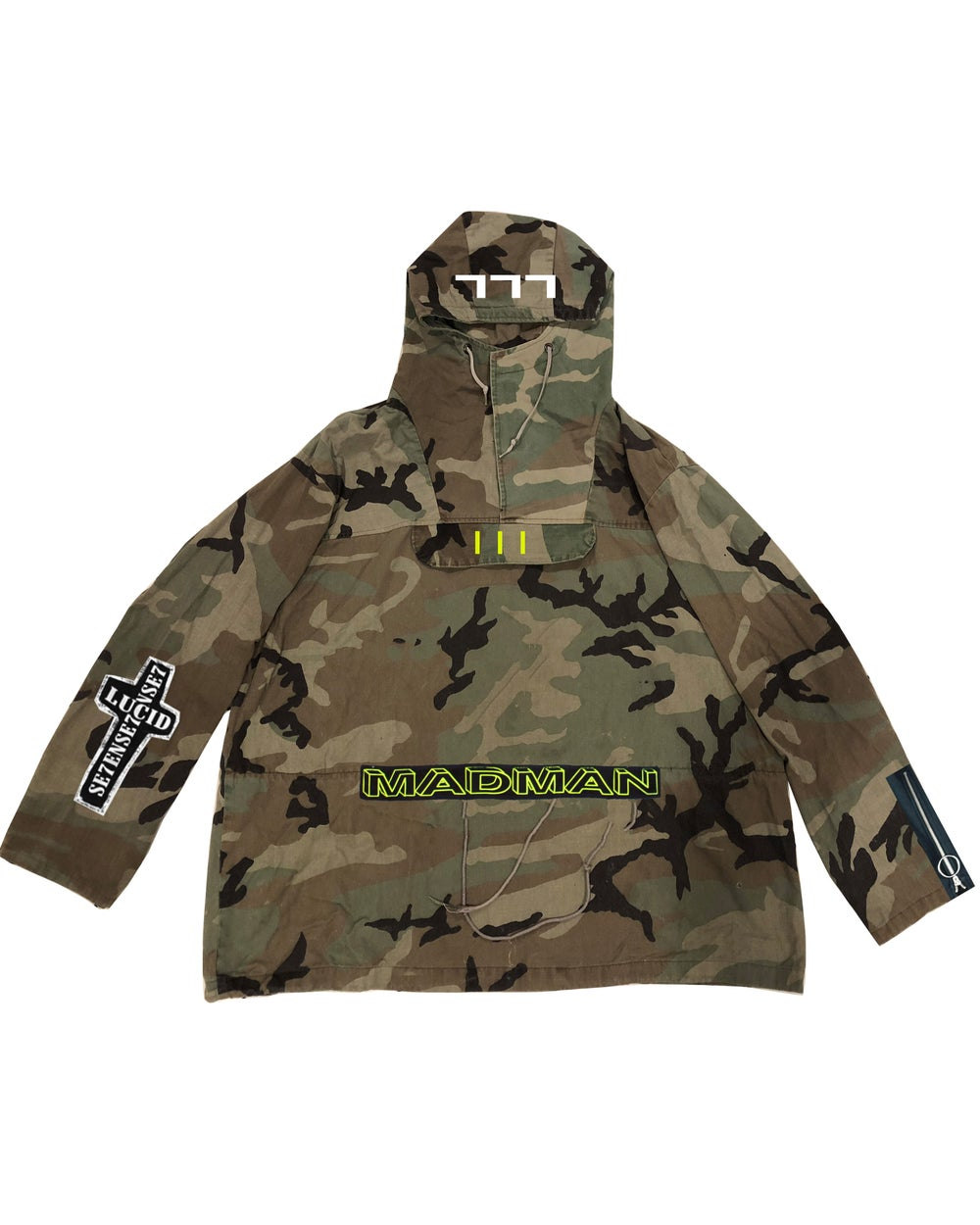 Image of HEAVY CANVAS EMBROIDERED ARMY HOODIE
