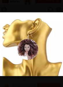 Image of Shhhh.... Wood Earrings
