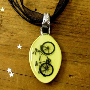 Image of Bicycle: baby spoon pendant