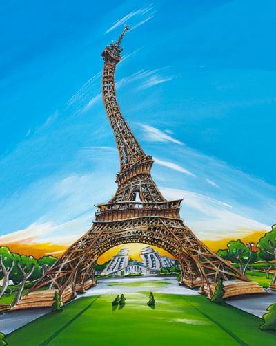 Image of Eiffel Tower 8x10 Block Mounted Print