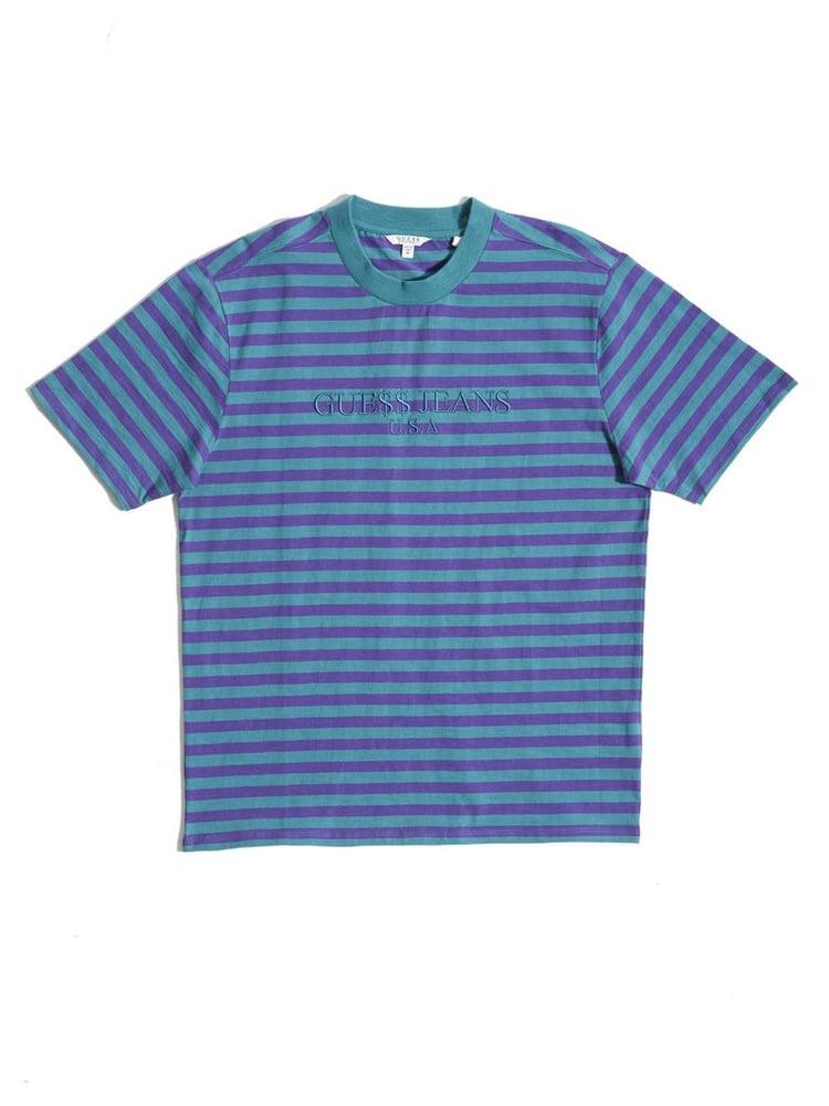Image of Guess Original x A$AP Rocky David Reactive Short Sleeve Crew- Turquoise