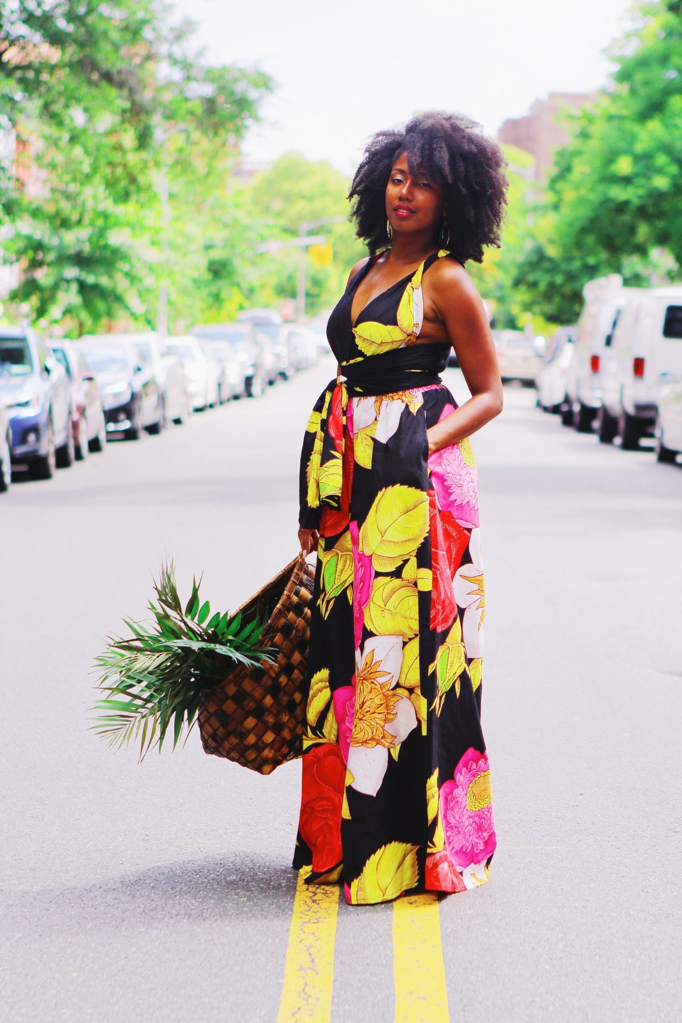 Image of Neveah - Black Floral Infinity Jumpsuit