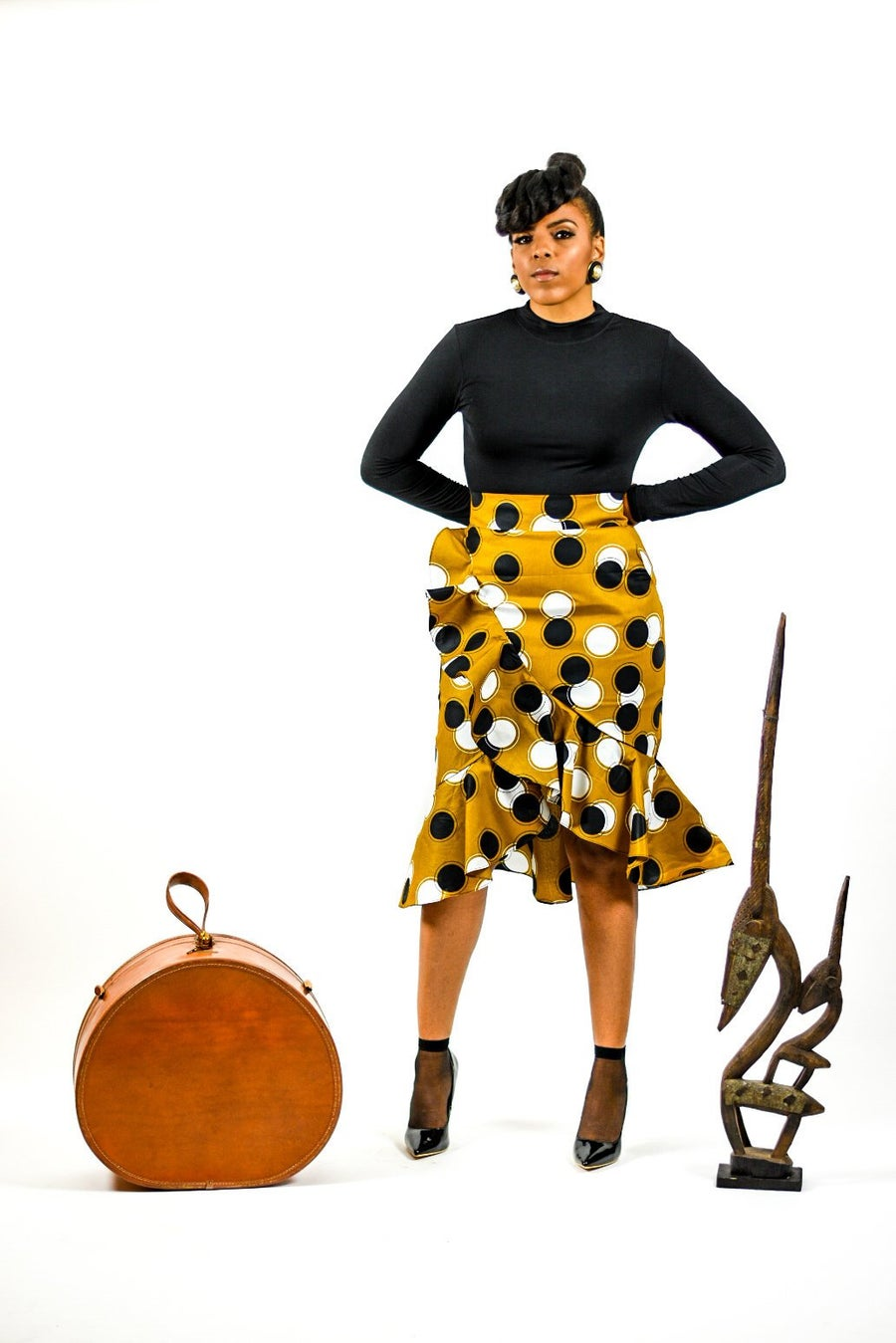 Image of Dorothy -African Ankara Print Skirt