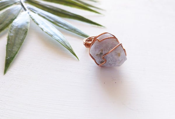 Image of Blue Lace Agate (Calming) Ring