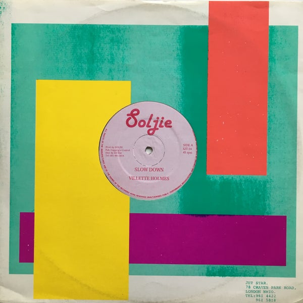 Image of VILLETTE HOLMES - SLOW DOWN 12""