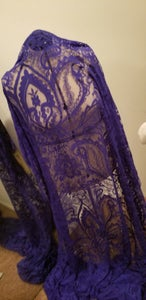 Image of Purple Printed lace