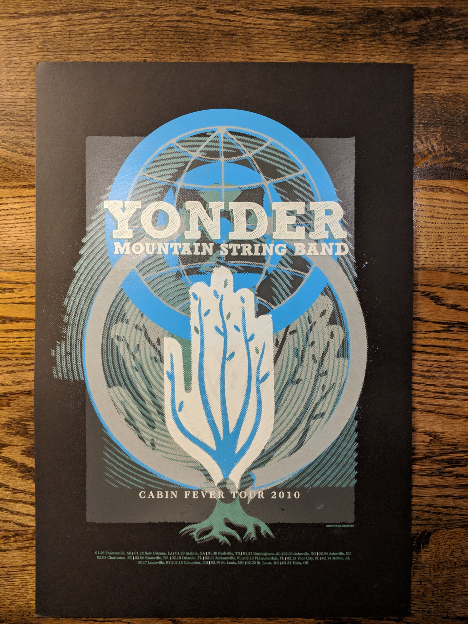 Image of Yonder Mountain String Band - Cabin Fever Tour Poster **RECENTLY DISCOVERED**