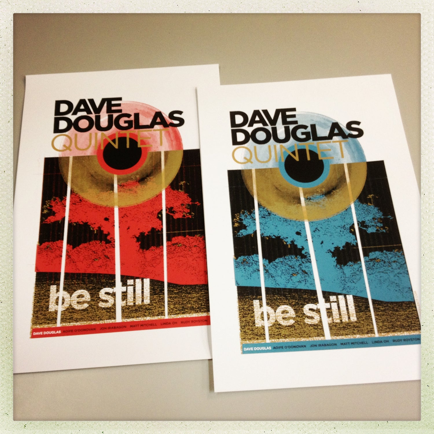 "Image of Dave Douglas ""Be Still"" posters - JAZZ"