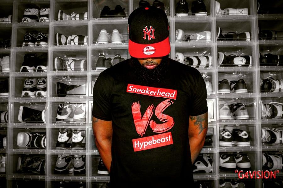 Image of EXCLUSIVE SNEAKERHEAD vs HYPEBEAST LE Tshirt
