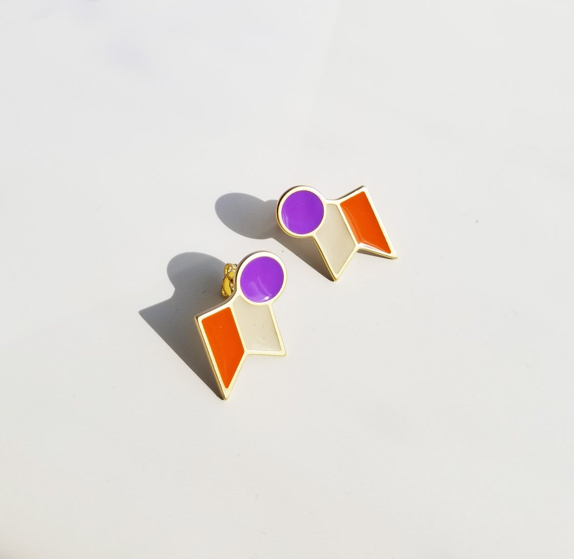 Image of Dot II Studs • Stainless steel • Silver