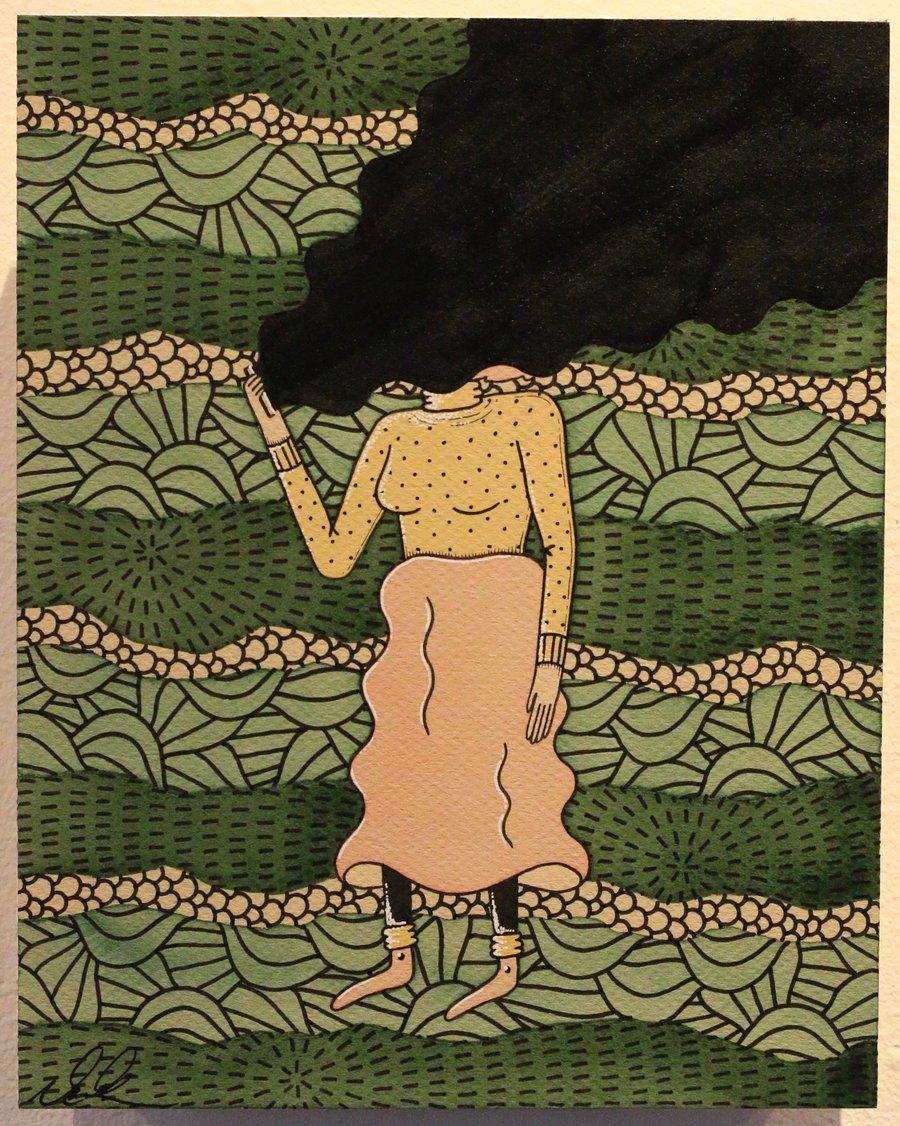 "Image of ""Stimulation"" Original Watercolor"
