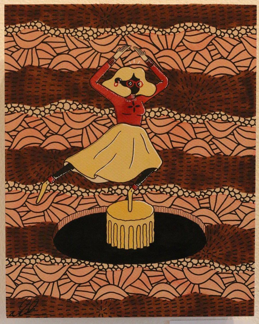 "Image of ""Ballet"" Original Watercolor"